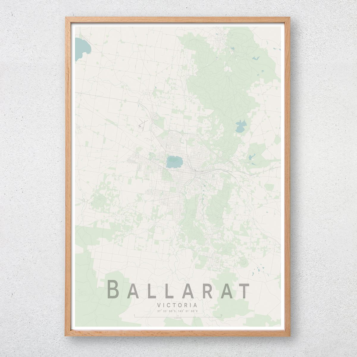 Map Of Australia Ballarat.Details About Ballarat Map Print Australia Wall Art Poster City Map Wall Decor A3 A2 A1