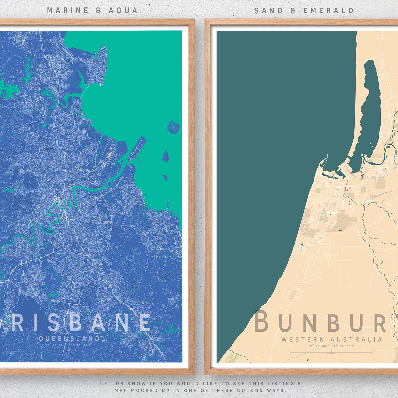 Central Coast Australia Map.Details About Central Coast Map Print Australia Wall Art Poster City Map Wall Decor A3 A2 A1