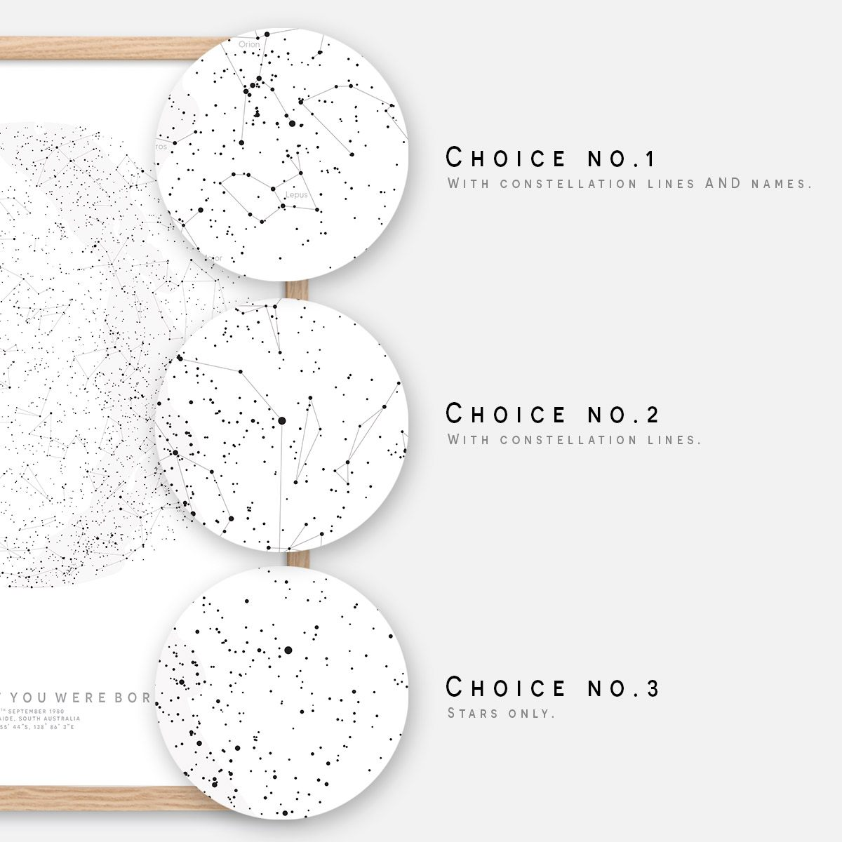Details about CUSTOM Star Map | Star Chart | Night Sky Map Constellation  Print | Wedding Gift
