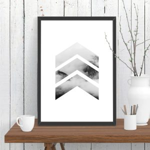 Chevrons Cloud Mountain Print