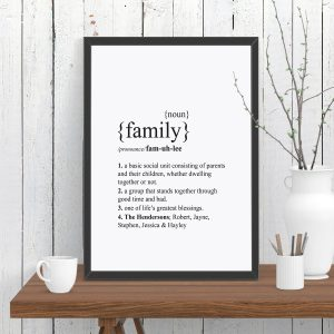 Family Dictionary Definition Print