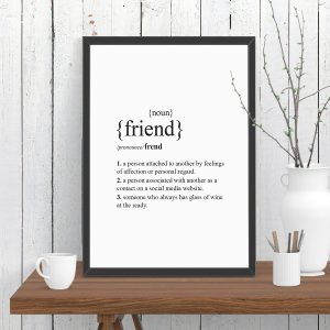Friend Dictionary Definition Print