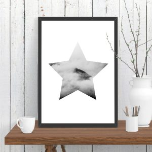 Star Cloud Mountain Print