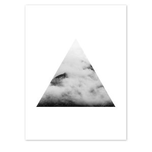 Triangle Cloud Mountain Print
