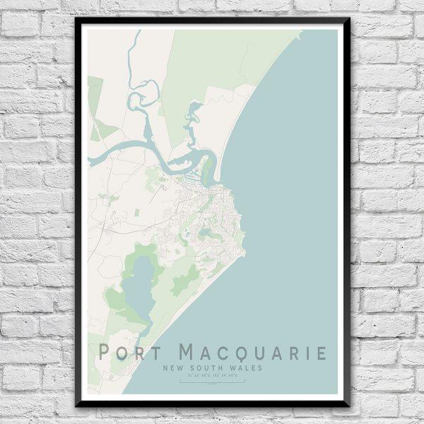 Port Macquarie Map Print