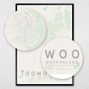 Toowoomba Map Print