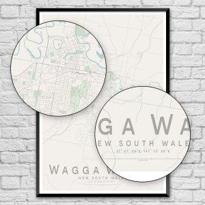 Wagga Wagga City Street Map Print