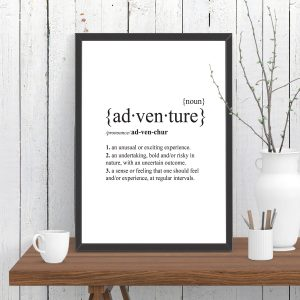 Adventure Dictionary Definition Print