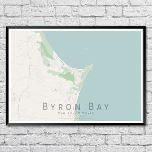 Byron Bay Map Print