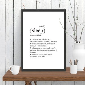 Sleep Dictionary Definition Print
