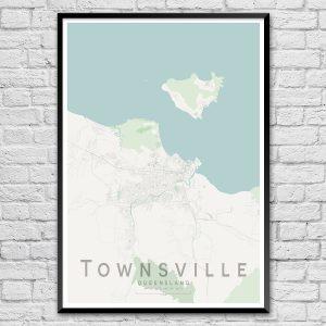 Townsville City Street Map Print