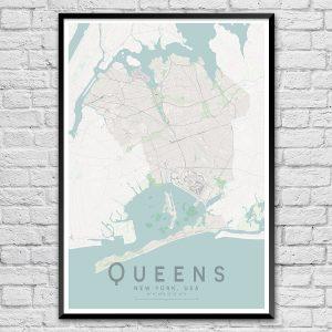 Queens New York City Street Map Print
