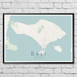 Bali Map Print