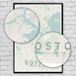 Boston City Street Map Print