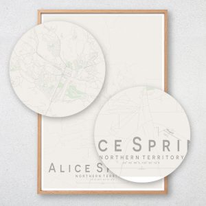 Alice Springs Map Print