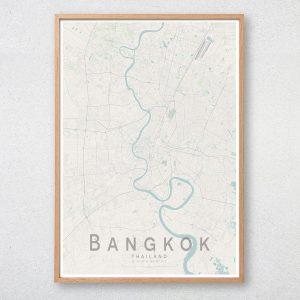 Bangkok Map Print