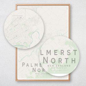 Palmerston North Map Print