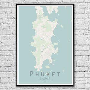 Phuket Map Print