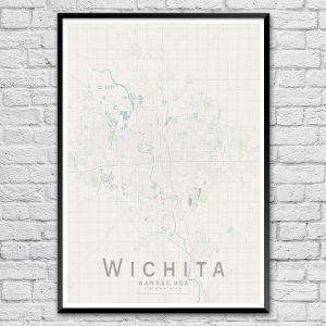 Wichita Map Print