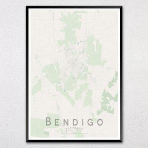 Bendigo Map Print