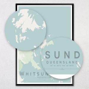 Whitsunday Islands Map Print