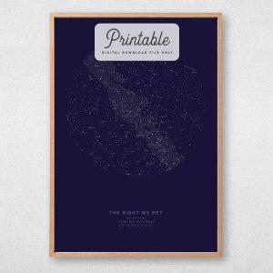 Custom Star Map Printable
