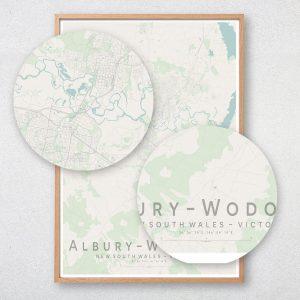 Albury Wodonga Map Print