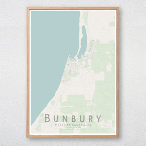 Bunbury Map Print