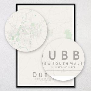 Dubbo Map Print