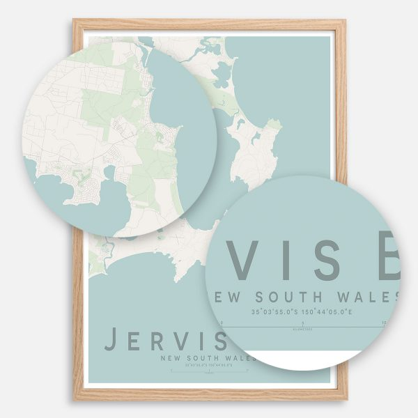 Jervis Bay Map Print