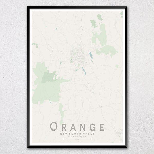 Orange Map Print