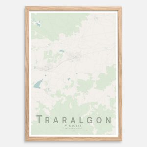 Traralgon Map Print
