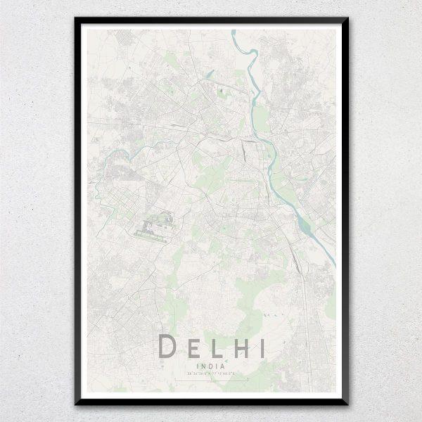 Delhi Map Print