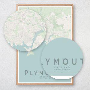 Plymouth Map Print