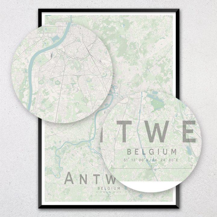 Antwerp Map Print