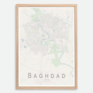 Baghdad Map Print
