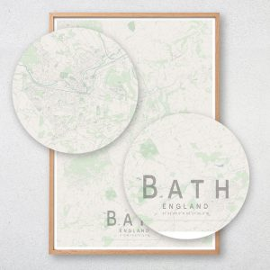 Bath Map Print