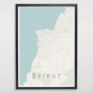 Beirut Map Print