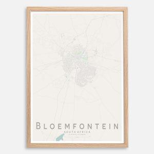 Bloemfontein Map Print