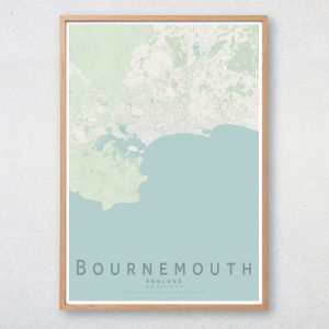 Bournemouth Map Print