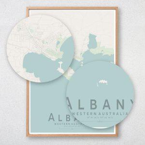 Albany Map Print