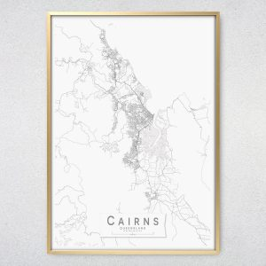 Cairns Monochrome Map Print