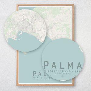 Palma Map Print