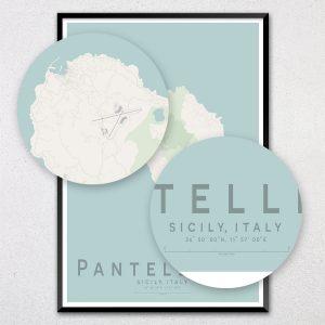 Pantelleria Map Print