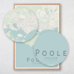 Poole Map Print