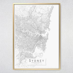 Sydney Monochrome Map Print