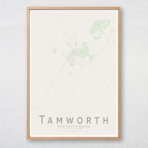 Tamworth Map Print