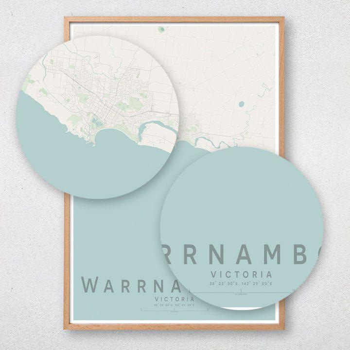 Warrnambool Map Print