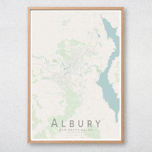 Albury Map Print