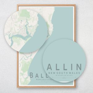 Ballina Map Print